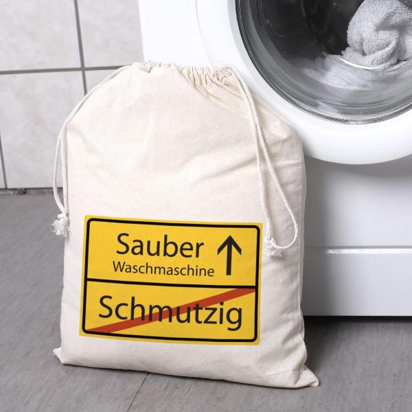 Wäschesack mit Verkehrsschild und Ihrem Wunschtext