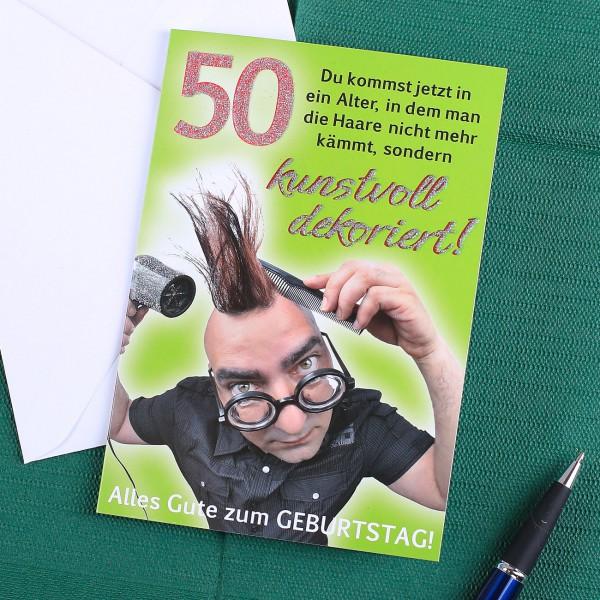 Geburtstagskarte zum 50.