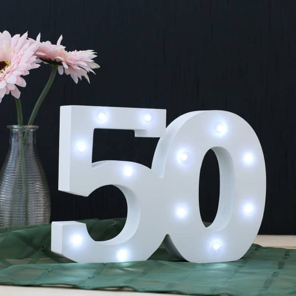 LED Deko-Zahl 50