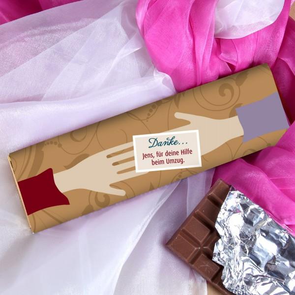 XL-Danke-Schokolade mit einem Wunschtext