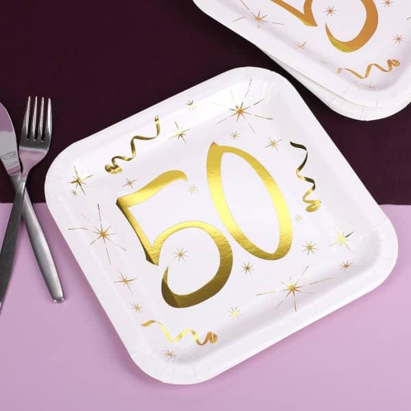 Pappteller zum 50. Geburtstag