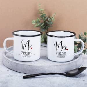 Tassen für Paare zur Hochzeit