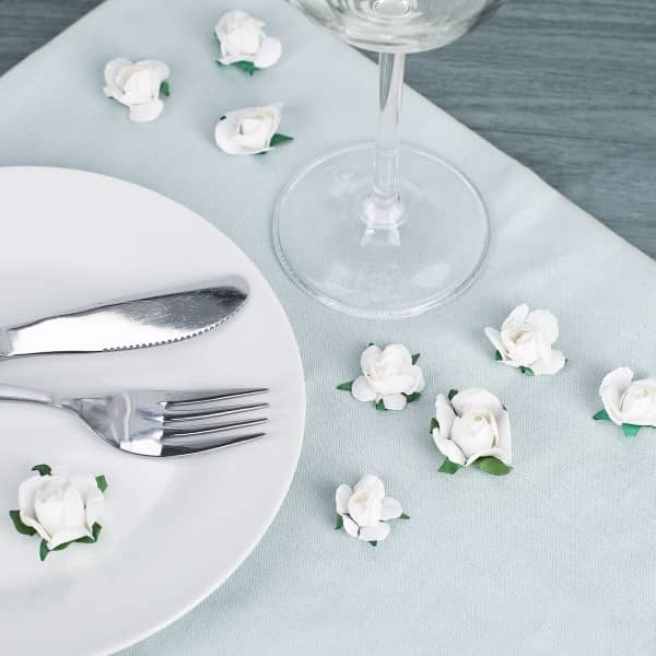 Deko Rosen in Weiß
