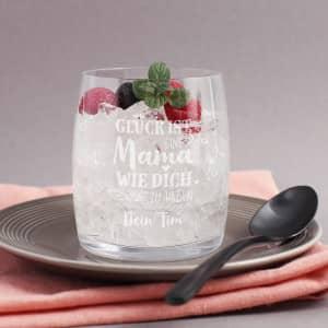 Trinkglas zum Muttertag mit Gravur
