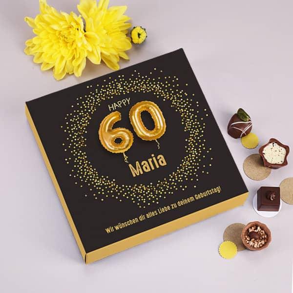 Pralinenschachtel zum 60. Geburtstag