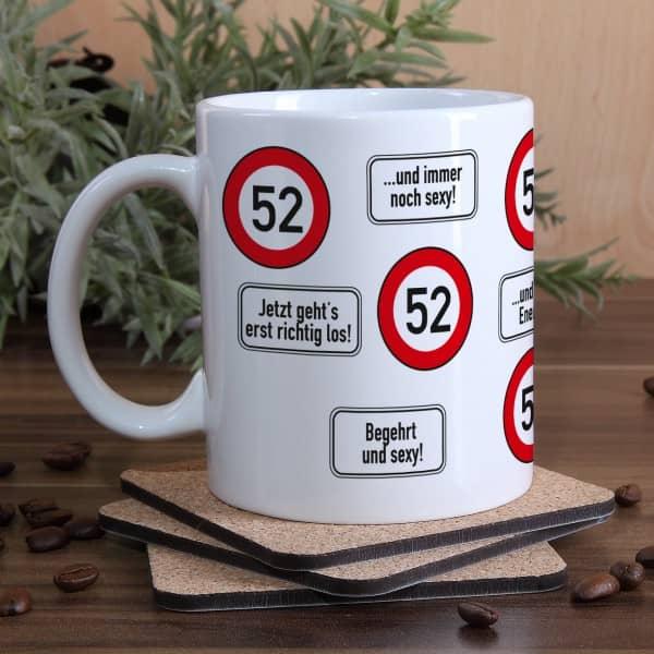 Kaffeetasse als Geschenk zum 52. Geburtstag