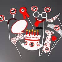 Photo Booth - Set für Partyfotos zum 40. Geburtstag