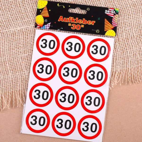 Sticker Verkehrszeichen Motiv zum 30.