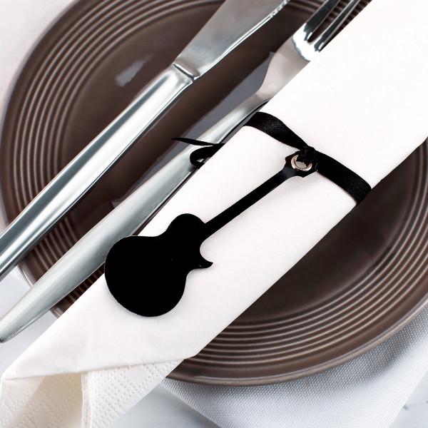 Anhänger im Gitarren-Design als Tischdeko