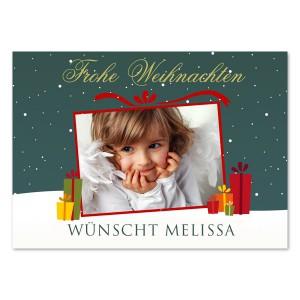 Frohe Weihnachten wünschen mit einer tollen Postkarte