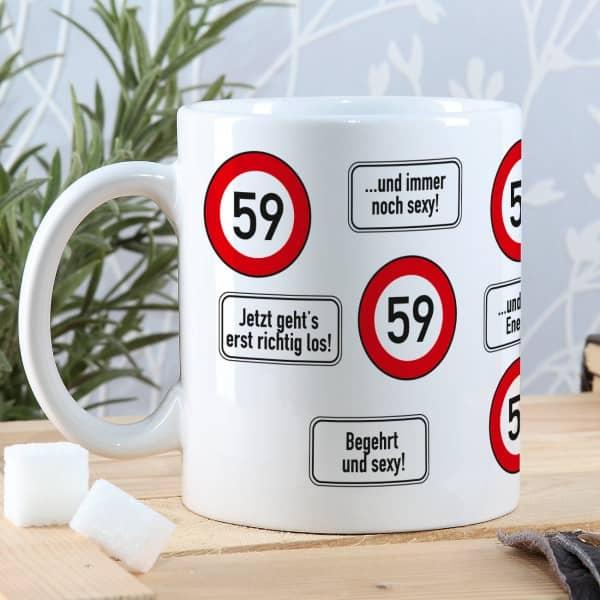 Kaffeetasse als Geschenk zum 59. Geburtstag