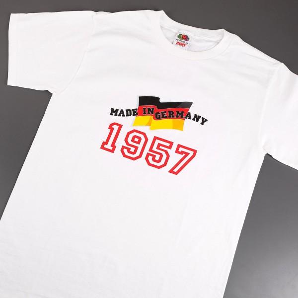 Ein witziges T-Shirt als Geschenk für den Jahrgang 1957