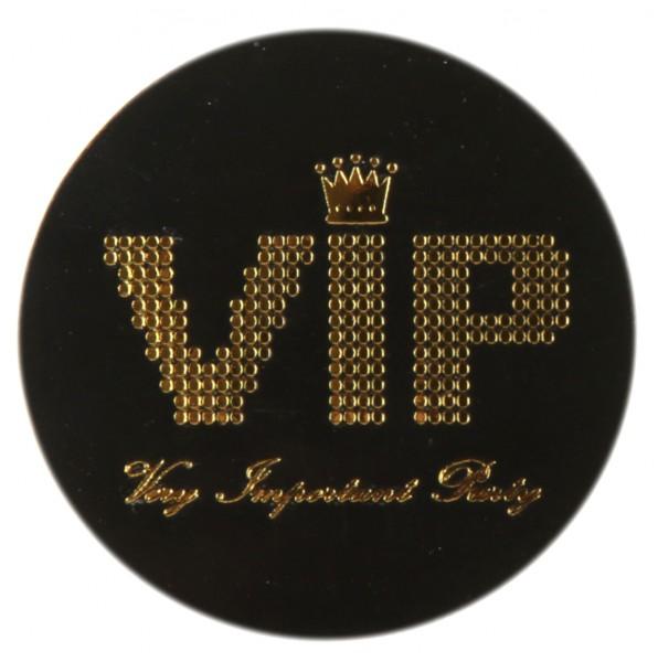 Blättchen Konfetti VIP in schwarz / gold