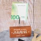 Ziegelstein-Geldclip als Geschenk zum Einzug