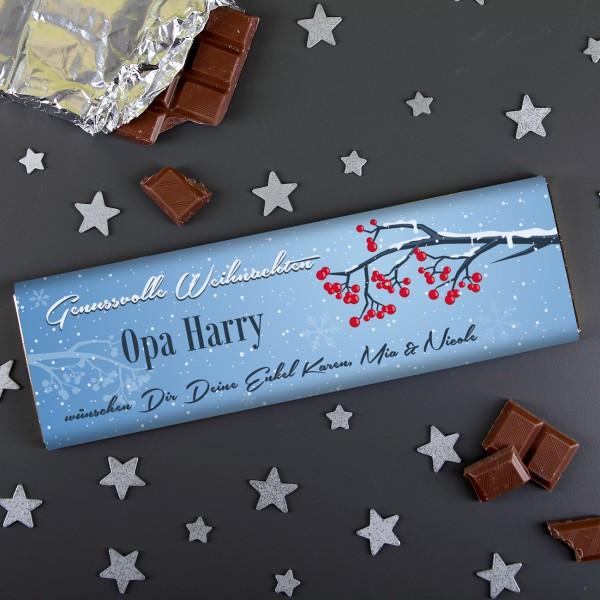 300g Milchschokolade zu Weihnachten