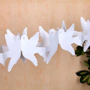 Girlande Weiße Tauben