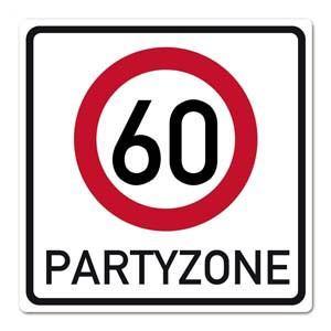 PVC Verkehrsschild zum 60. Geburtstag