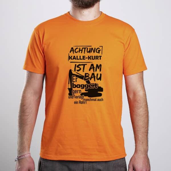 Individuellbekleidung - Witziges T Shirt für den Baggerfahrer vom Bau - Onlineshop Geschenke online.de