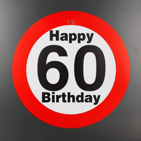 Partyschild mit saugnapf zum 60 geburtstag for 60 geburtstag dekoration