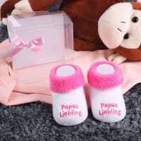 Babys erste Söckchen - Papas Liebling in rosa