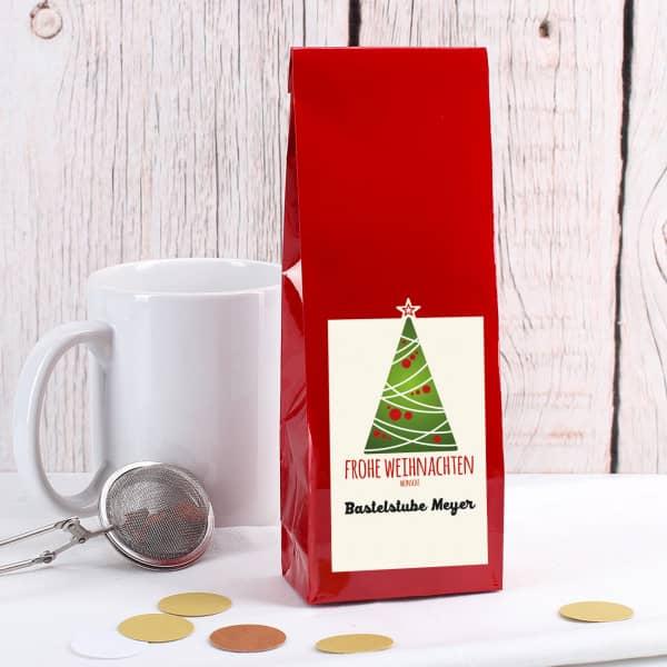 Tee-Geschenk mit Ihrem Firmen-Logo