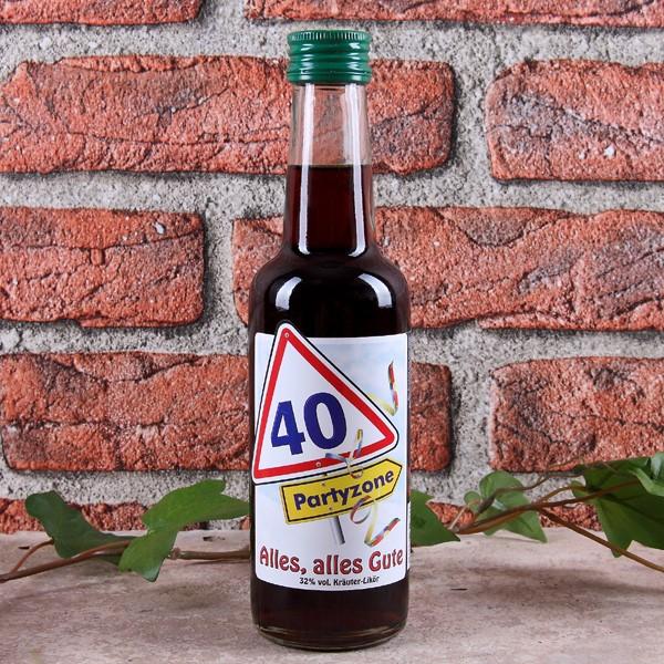 XXL Kräuterlikör zum 40. Geburtstag