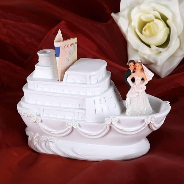 Spardose Schiff mit Brautpaar