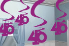 Hanging Swirl Decoration 40.Geburtstag in Pink