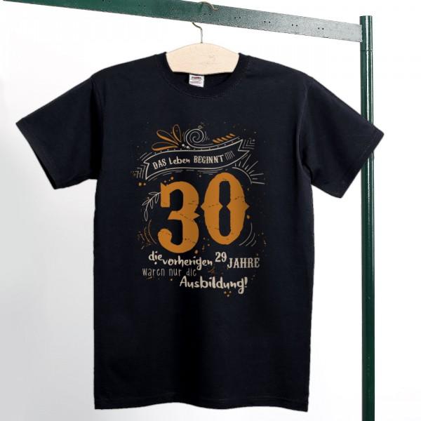 T Shirt zum Geburtstag Das Leben beginnt mit 30