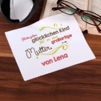 Bedrucktes Brillenputztuch zum Muttertag mit Namen