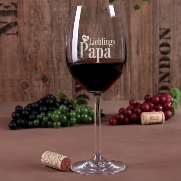 Weinglas Lieblingspapa
