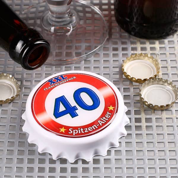 XXL Flaschenöffner mit Magneten zum 40. Geburtstag