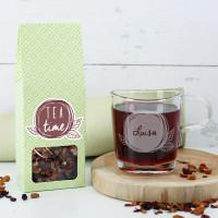 Teeset - Tea Time - mit Leonardo Teeglas und Früchtetee