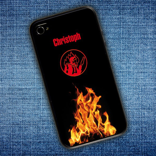 Rückseite Handy-Cover mit Ihrem persönlichen Aufdruck