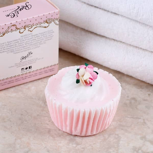 Cupcake Seife Rose in weiß