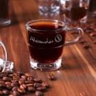 Espressoglas von Leonardo mit Namensgravur