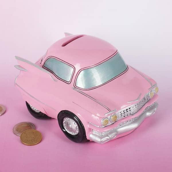 Pinke Oldtimer-Spardose American Style