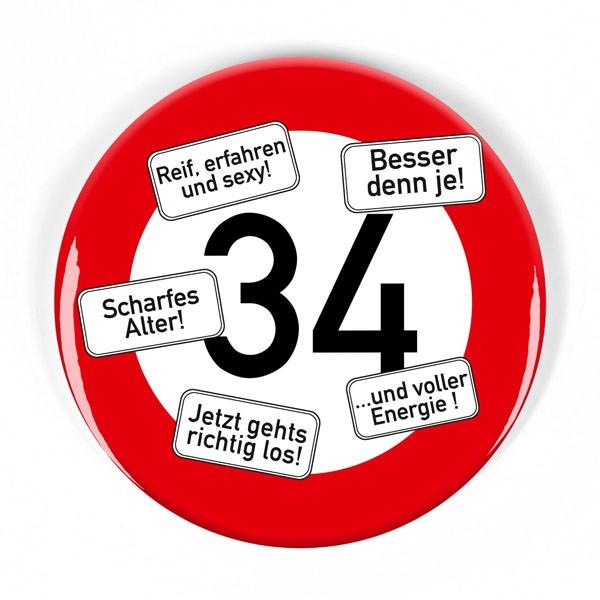 Riesen Button Verkehrsschild 34