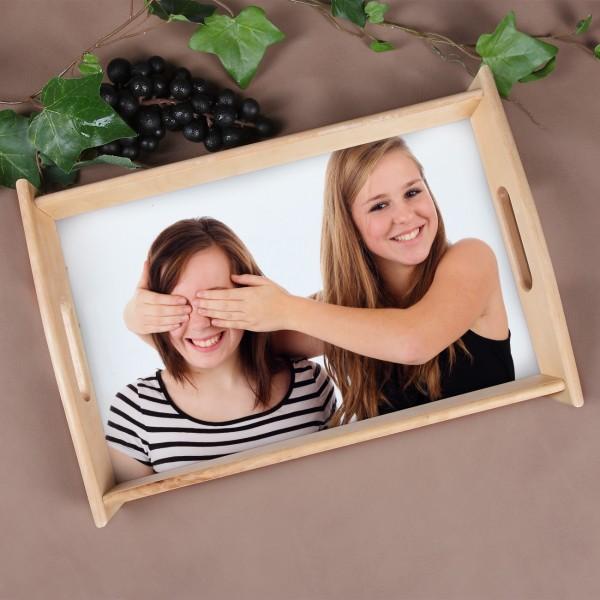 Tablett mit persönlichem Foto