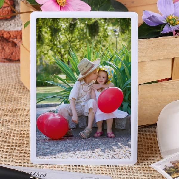 Blechpostkarte mit Foto