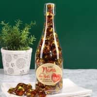 Champagner Pralinenflasche zum Muttertag