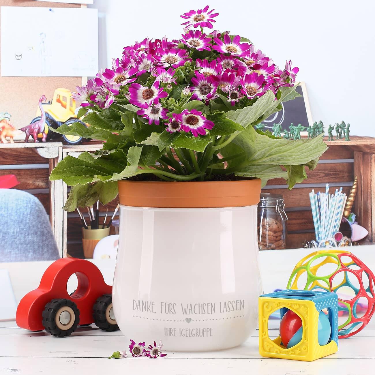 Ein Personliches Dankeschon Geschenk Der Leonardo Blumentopf Mit Wunschgravur