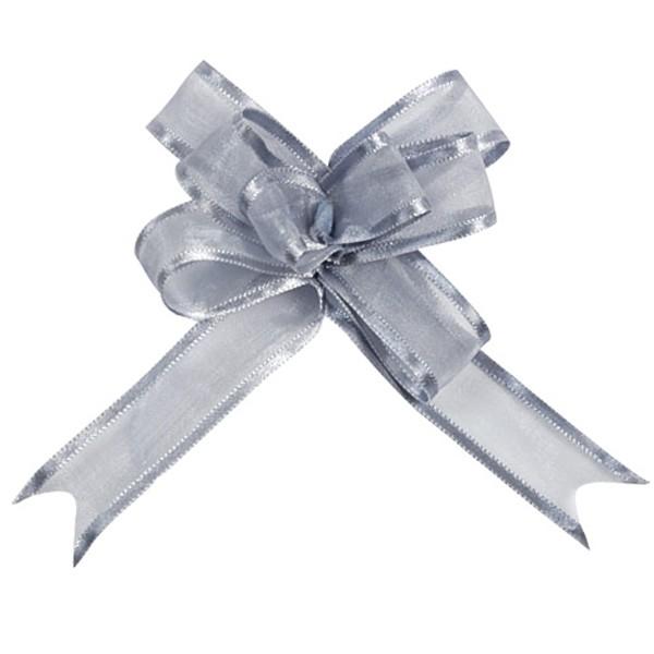 Schleifenbänder aus Organza in Silber