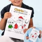 Malheft zu Weihnachten für Mädchen und Jungen