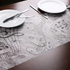 Deko Tischläufer Musiknoten, 30 cm x 5 m
