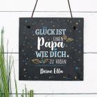 Glück ist, einen Papa wie dich zu haben - Schiefertafel zum Vatertag