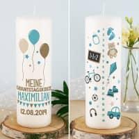 Lebenslicht - Geburtstagskerze für Jungen