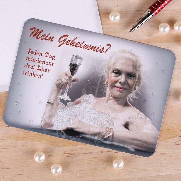 Postkarte Glitzerffekt