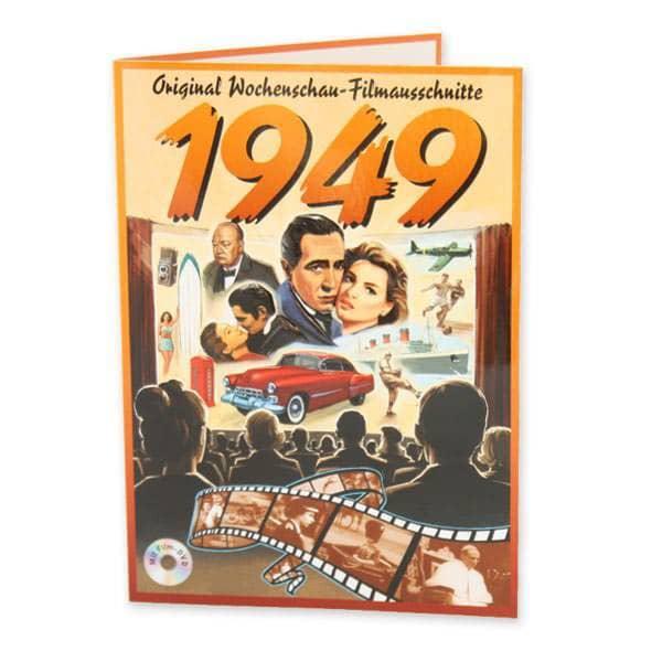 Geburtstagskarte 1949 original Wochenschau Filmausschnitten
