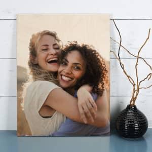 Holzbild mit Foto bedruckt
